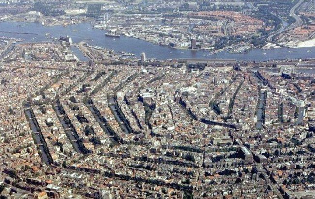 Amsterdam - Aerial - Canals