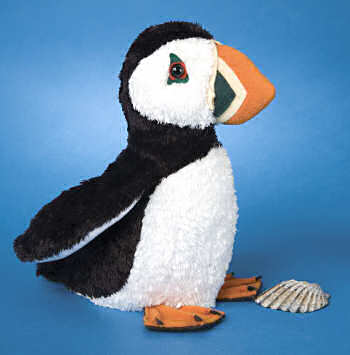 A stuffed puffin. Not the edible kind. Well... not really.