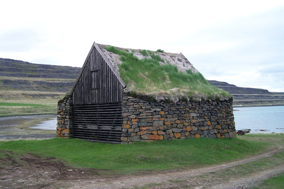 A hjallur, a house for smoking meat and fish. But I think this one's in Iceland, not the Faroes.