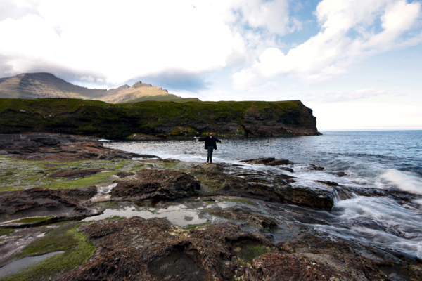 Me, twirling on the coast of Vidoy, Faroe Islands