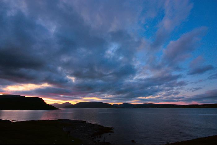 Tangafjørður and Skálafjørður -- Sunset, Faroe Islands