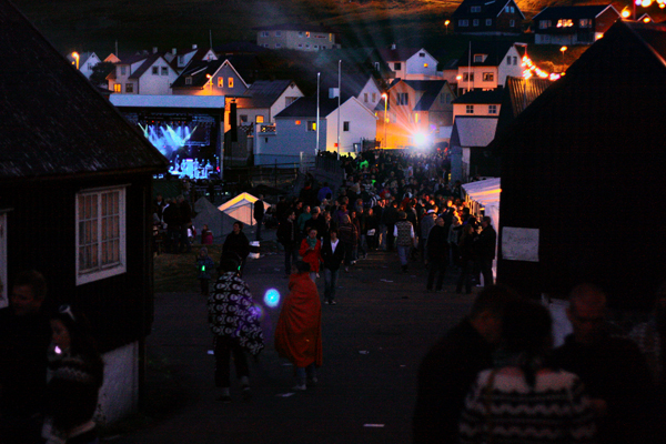 The G! Festival in Gotogjogv, Faroe Islands. Not an awesome photo.