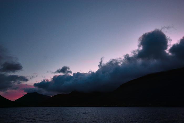 Blackcurrant Dawn, Atlantic Ocean, near Klaksvik, Faroe Islands.