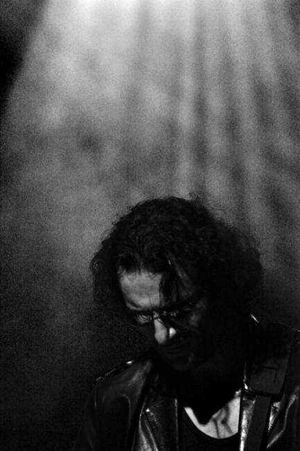 The Italian Guitarist, black and white