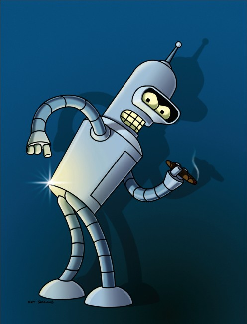 Bender of Futurama, one of the most famous robotic androids in popular culture. What if he was a KILLER?!