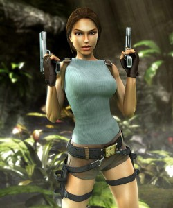 Lara Croft, Tomb Raider, circa 2007. Much more curvy than the original.