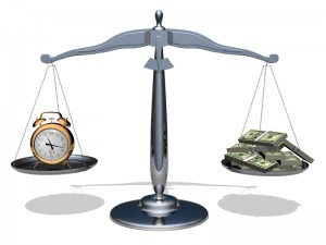The scales of balance, equality, fairness. Time and money...!