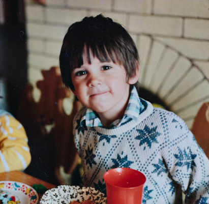 Not my birthday party, but someone else's (I think). About 3 or 4 years old here.