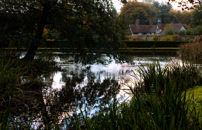 One of my first '50mm landscapes'. Much harder than 16mm! Ightham Mote, north lake.
