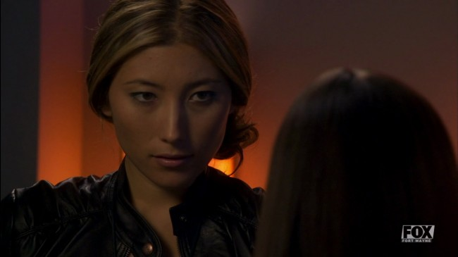 Dichen Lachman -- Sierra -- looking kinda cute. Not a fantastic shot though, I agree.