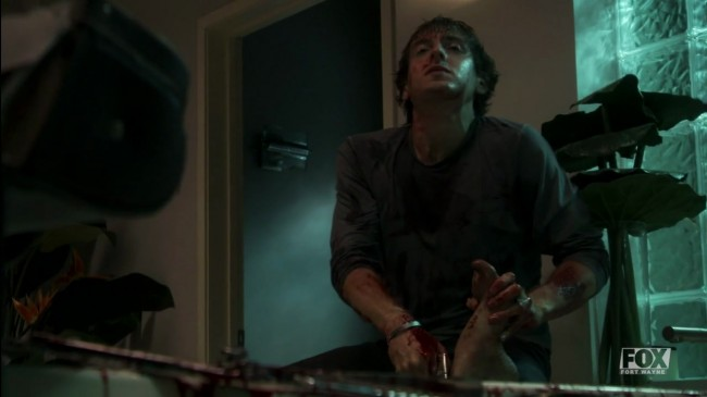 Topher cutting up a corpse. It's worth watching the episode just for this bit...