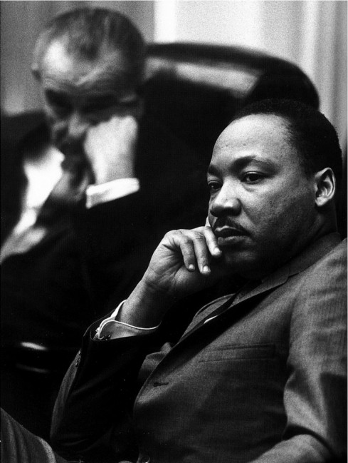 Martin Luther King. Looking a little bored. Perhaps listening to yet another white supremacist...