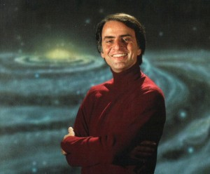 Carl Sagan from his celebrated 'Cosmos'. Watch it! Everyone!