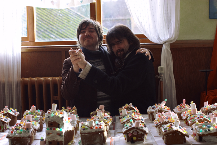 Of course, when surrounded by gingerbread houses, all you can do is... dance.