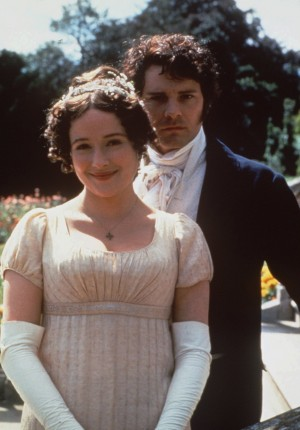 Mr Darcy and Elizabeth Bennett, of Pride & Prejudice (Colin Firth and Jennifer Ehle)