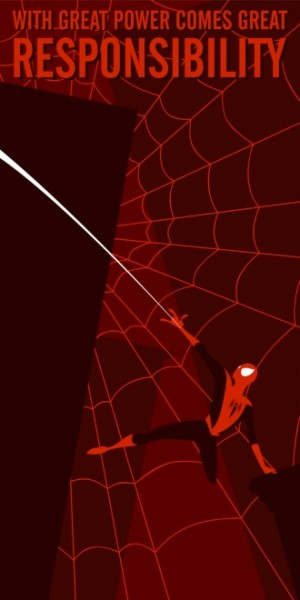 A neat Spider-Man illustration taken without permission from Mark Grambau (http://www.markseviltwin.com)