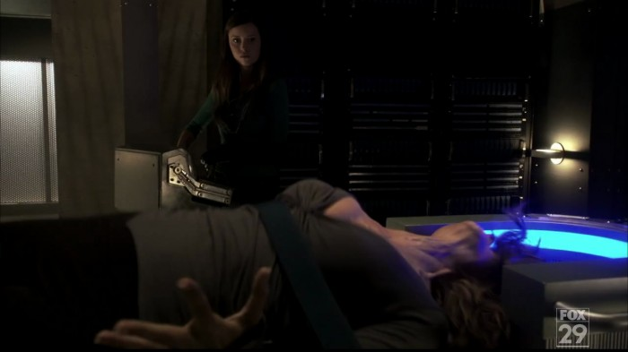 Dr Bennett getting her own back on Echo. Evil Glau.