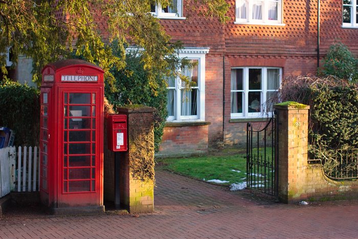 This isn't a great photo, but, look, TELEPHONE BOX!