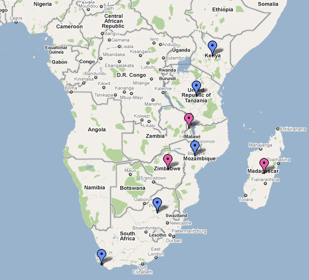 East Africa Tour (Provisional, January 2010)