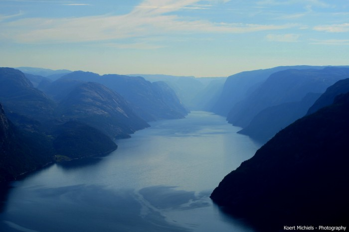 Lysefjorden, in the south of Norway (Flickr user: koertmichiels)