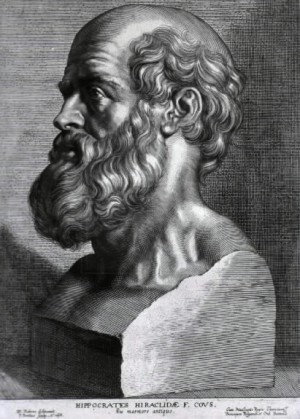 An engraving of Hippocrates by Peter Paul Rubens -- ever heard of the Hippocratic Oath?