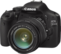 The Canon 550D, with some naff kit lens on it I think.