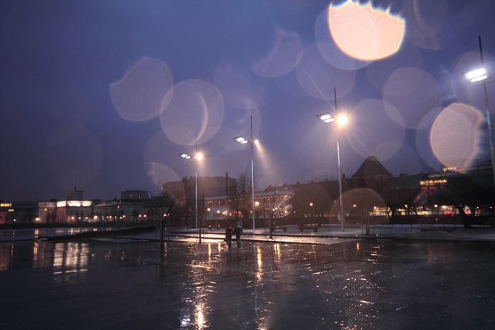 Central Bergen, rainy, Byparken (or something)