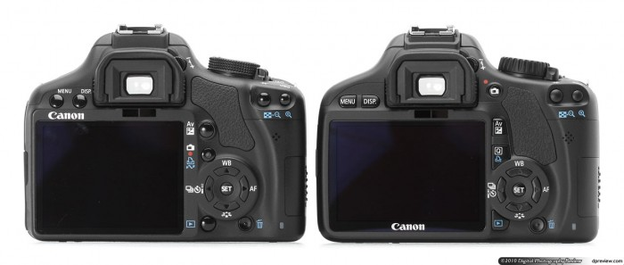 Side by Side, the 500D vs. 550D -- from DPReview (http://www.dpreview.com/previews/CanonEOS550D/)