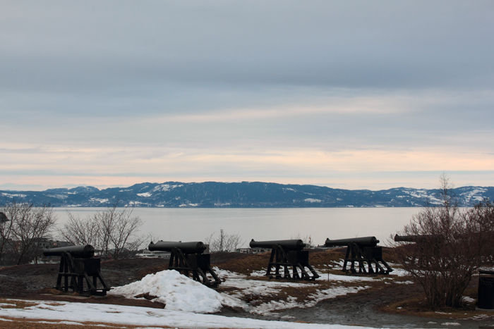 Canons! Looking out over Trondheim... ceremonial I think.