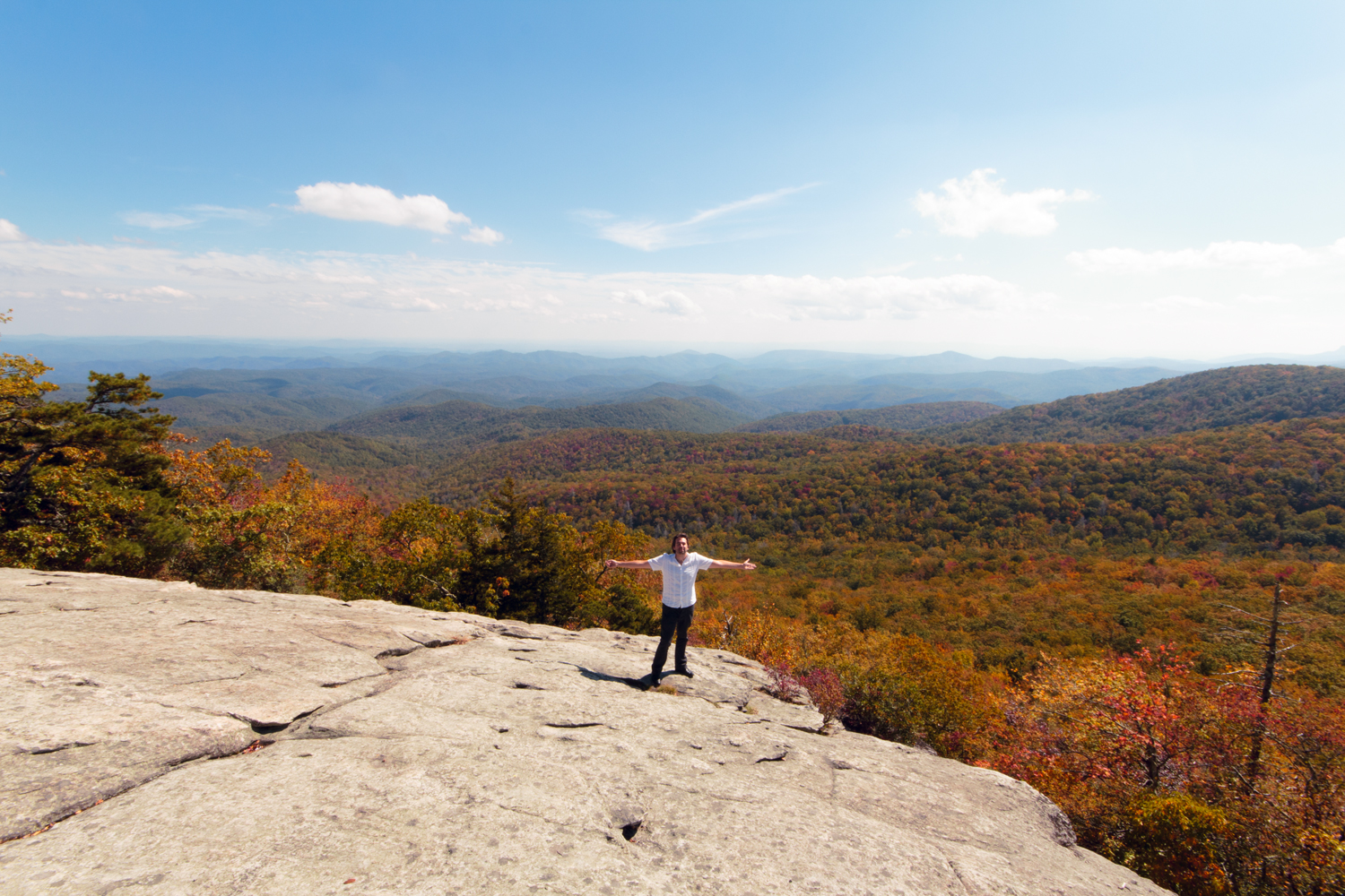 Seb, at Beacon Heights, off the Blue Ridge Parkway
