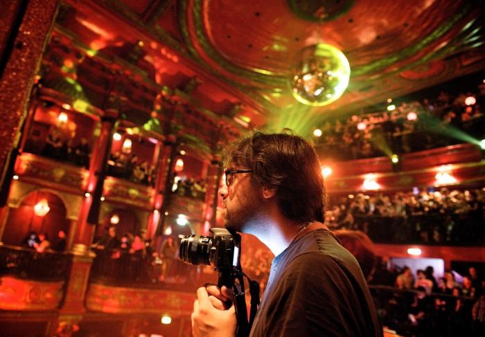 Seb, at Koko club in London, at an Amanda Palmer gig